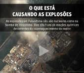 O que está causando as explosões