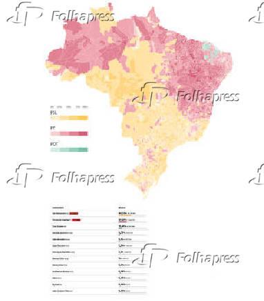 Veja o mapa de apuração de todas as cidades do Brasil