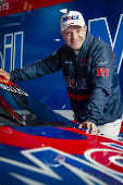 Rubens Barrichello, da equipe Full Time, e seu carro na Stock Car