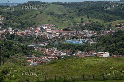 Vista geral do município de Nazaré, na Bahia