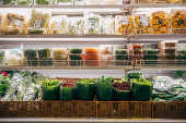 Embalagens ecológicas no supermercado Empório Santa Luzia