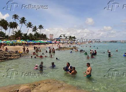 Piscinas naturais em Porto de Galinhas, em Ipojuca, litoral sul de Pernambuco