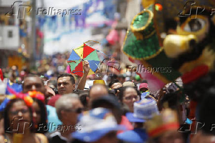 Desfile dos Papangus de Bezerros, em Bezerros (PE)