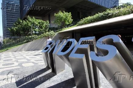 Fachada do BNDES (Banco Nacional de Desenvolvimento Econômico e Social), no Rio
