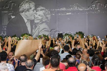 Velório da ex-primeira-dama Marisa Letícia Lula da Silva