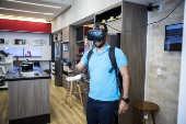 Realidade virtual em loja de varejo