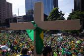 Manifestação contra o isolamento social, na avenida Paulista (SP)