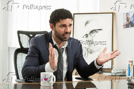 David Miranda (PSOL), durante entrevista em seu gabinete de vereador, no Rio