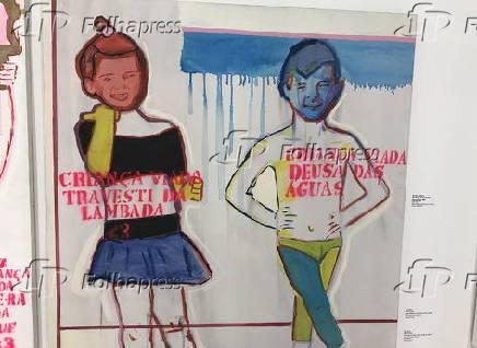 Obra da mostra ''Queermuseu - Cartografias da Diferença na Arte Brasileira''