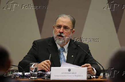 Augusto Aras durante sabatina no Senado Federal