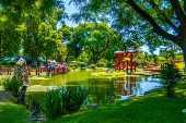 Vista do Jardim Japonês, atração turística de Buenos Aires, na Argentina