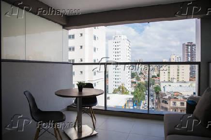 Varanda de apartamento do empreendimento VN Álvaro Rodrigues, da Vitacon, em SP
