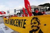 Manifestação em apoio ao presidente Lula