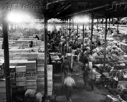 Interior do Mercado Municipal de São Paulo (1959)