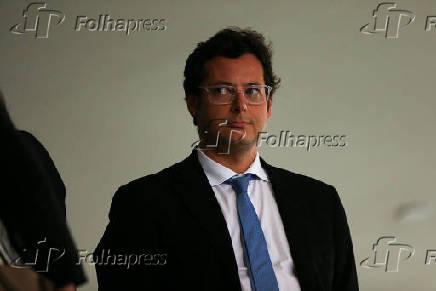 O chefe da Secom, Fabio Wajngarten, em cerimônia em Brasília