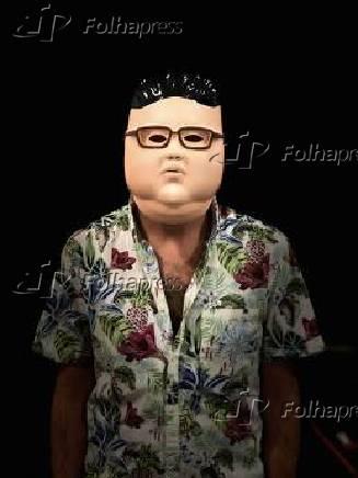 Máscara do ditador da Coreia do Norte, Kim Jong-un