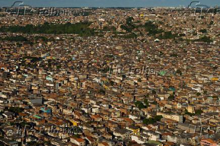 Vista aérea do subúrbio de Salvador