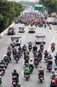 Protesto Motoboys Marginal Tietê