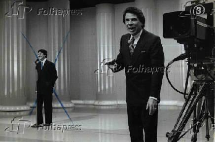 O apresentador Silvio Santos e Fernando Collor de Mello