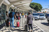 Área de desembarque no aeroporto de Congonhas