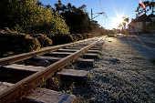 Linha de trem em Campos do Jordão (SP)
