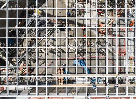 Canteiro de obras da estação São Paulo-Morumbi, na zona oeste de SP