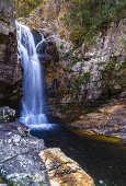 Vista da Cachoeira dos Anjos e Arcanjos, em Alto Paraíso de Goiás (GO)