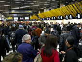 Passageiros no aeroporto de Congonhas