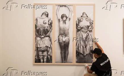 Montagem da exposição 'Histórias da Sexualidade' no Masp