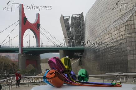 Ponte de la Salve e o Guggenheim em Bilbao, no País Basco