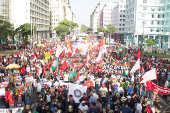 Protesto contra a reforma da Previdência em Recife (PE)