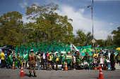 Manifestação em apoio ao presidente Jair Bolsonaro