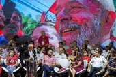 O presidente Lula discursa durante congresso do PT, em São Paulo
