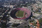Vista aérea do Estádio Cícero Pompeu de Toledo - Estádio do Morumbi