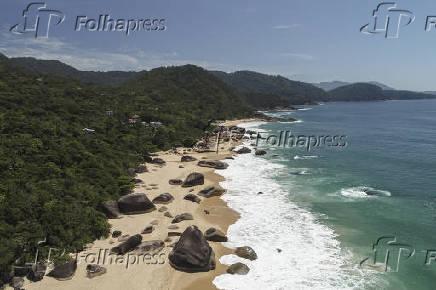 Vista de drone da Praia dos Ranchos