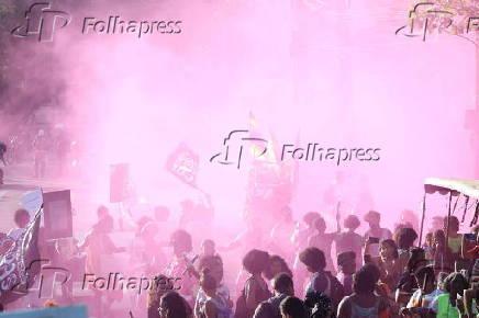 Marcha feminista no Recife realizada no Dia Internacional da Mulher em 2020