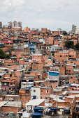 Vista da residências na comunidade de Paraisópolis, na zona sul de São Paulo (SP)