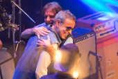 Dudu Braga e Roberto Carlos na gravação de DVD da RC na Veia