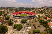 Vista aérea do estádio do Morumbi