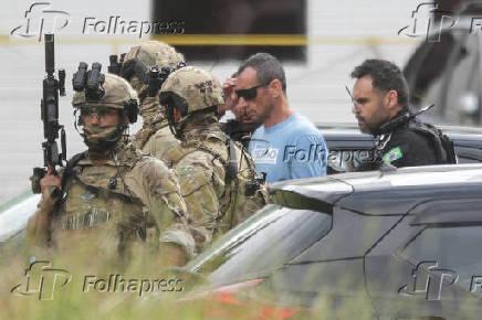 Marcola deixa o Hospital de Base, em Brasília (DF)