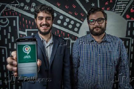 Os diretores do aplicativo JáTá Chegando