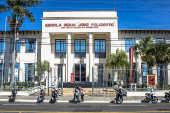 Fachada da Escola Senai José Polizotto no centro de Marília (SP)