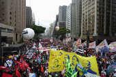 Protesto contra o presidente Jair Bolsonaro na avenida Paulista (SP)