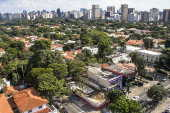 Vista aérea do bairro Jardim Europa,