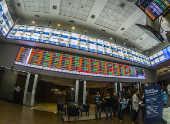 Vista interna do B3 S.A. - Brasil, Bolsa, Balcão, em São Paulo