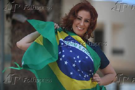 A deputada federal Carla Zambelli (PSL), em Brasília (DF)