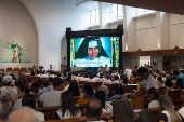 Em Salvador, devotos assistem à cerimônia no santuário Santa Dulce dos Pobres