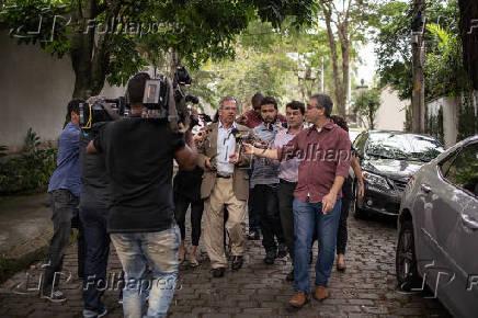 Paulo Guedes concede entrevista coletiva após reunião com Bolsonaro no Rio