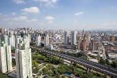 Vista do bairro do Brás a partir do empreendimento Portal Centro, da Even