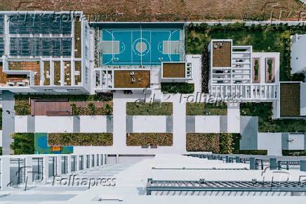 Áreas comuns do condomínio-clube Monumento São Paulo